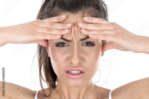 Model Released. Woman with Headache