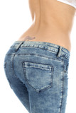 Model Released. Woman Wearing Tight Jeans