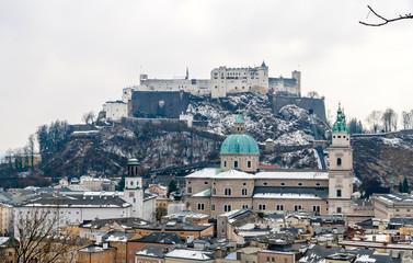 Salzburg Cathedral and Hohensalzburg Castle - Salzburg, Austia