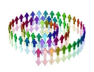 Menschen - Spirale
