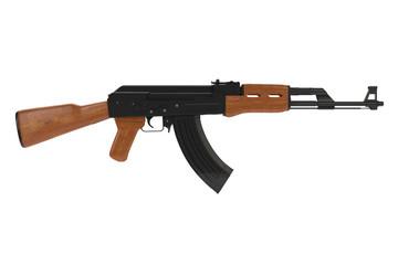 Seitenansicht einer Ak-47