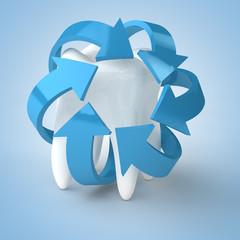 Viele Pfeile schützen Zahn