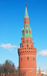 Moscow Kremlin Tower and wall.