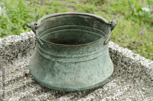 Cooper cauldron for water and oder liquid