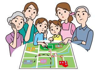 防災_家族で災害時避難場所確認