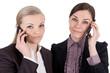 Geschäftsfrauen mit Telefon