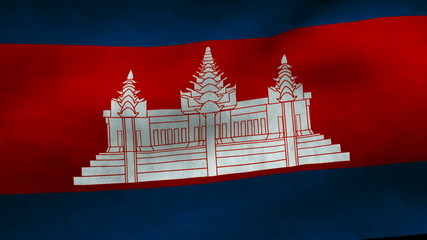 Cambodia country flag.