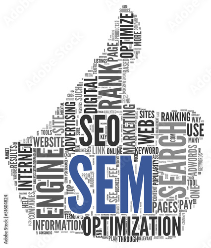 Search engine marketing SEM concept
