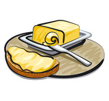 butter with sandwich