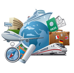 Travel concept icon