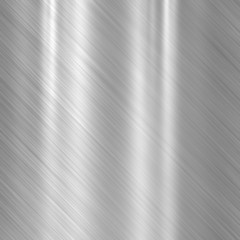Background of steel metal plate with reflections