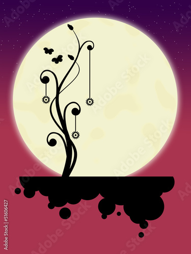 Full moon. Illustration