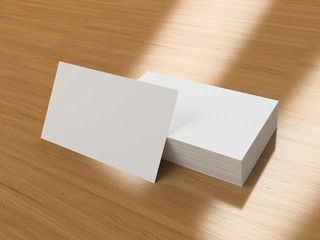 Business cards blank mockup
