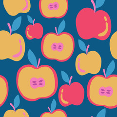 Healthy food abstract pattern with apples