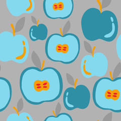 Healthy food abstract pattern. Apples pattern