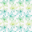 Beautiful gradient seamless pattern with lily.