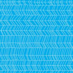 Classic hand drawn chevron seamless pattern.