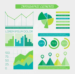Eco infographic elements set.