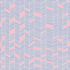 Classic hand drawn chevron seamless pattern