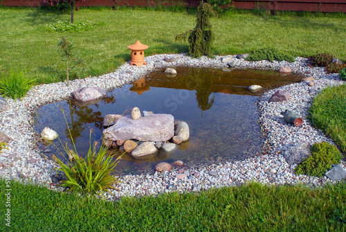 Foto op Canvas Water planten Garden Pond