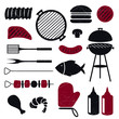 Vector Illustration of Barbeque Grill Icons
