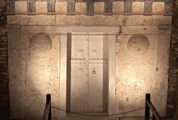 Ancient Macedonian tomb of king Philip at Vergina in Greece