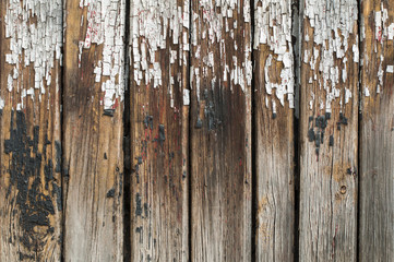 Old cracked paint on boards