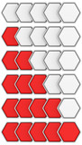 Hexagon rating set