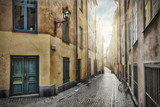 Empty street in Stockholm Old Town - 51609676