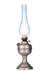 Petrol lamp on white