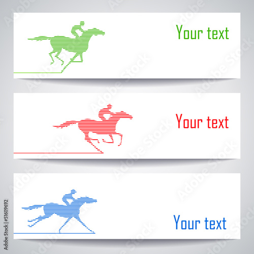 Banners with horserace