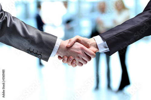 The businessman. Hand for a handshake.