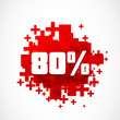80 percent discount, big sale