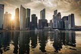 Singapore city in sunset time
