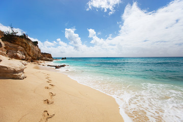 Cupecoy Beach on St Martin Caribbean