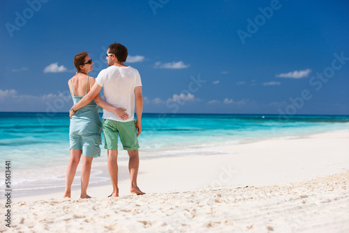 Couple on a tropical beach