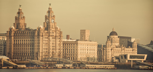 Famous Three Graces of Liverpool