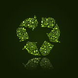 Recycle Silhouette Icon Sign