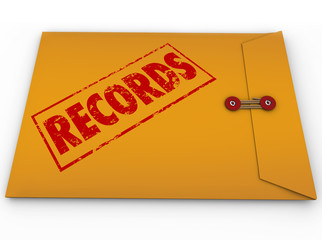 Records Documents Yellow Confidential Document