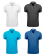 Black and white and color men t- shirts. Design template. Vector