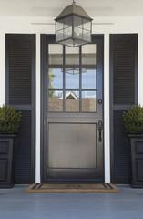 Front door of an upscale home