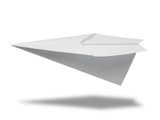 Paper plane isolated with clipping path