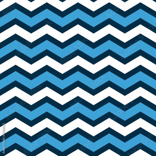 Abstract chevron seamless pattern in blue and white, vector