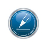 pencil icon on the blue with silver rectangular button
