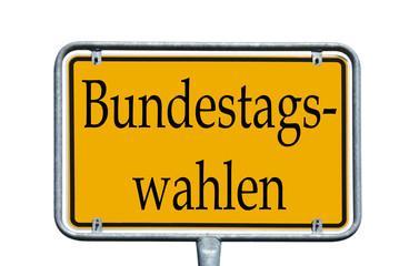 Ortsschild - Bundestagswahlen