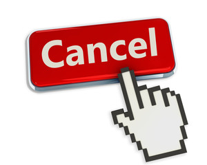 Cancel button with hand cursor