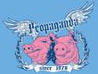 Постер, плакат: Propaganda pigs