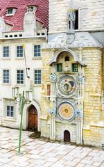 the astronomical clock tower in Prague, Czech Republic