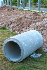 Waste water drain construction