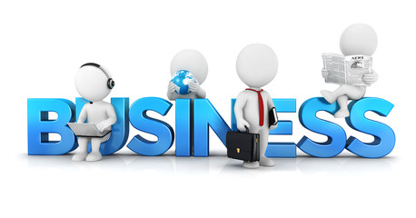3d white people business concept